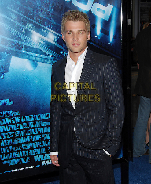 "MIKE VOGEL.Los Angeles Premiere of ""Poseidon"" held at The Grauman's Chinese Theatre in Hollywood, California, USA. .May 10th, 2006.Ref: DVS.half length blue pinstripe suit jacket hand in pocket.www.capitalpictures.com.sales@capitalpictures.com.Supplied By Capital PIctures"