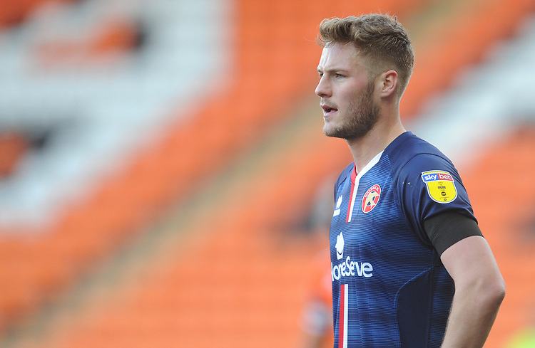 Walsall's Cameron Norman<br /> <br /> Photographer Kevin Barnes/CameraSport<br /> <br /> The EFL Sky Bet League One - Blackpool v Walsall - Saturday 9th February 2019 - Bloomfield Road - Blackpool<br /> <br /> World Copyright © 2019 CameraSport. All rights reserved. 43 Linden Ave. Countesthorpe. Leicester. England. LE8 5PG - Tel: +44 (0) 116 277 4147 - admin@camerasport.com - www.camerasport.com