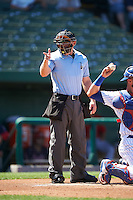 Umpire Brian Walsh during the second game of a doubleheader between the Peoria Chiefs and South Bend Cubs on July 25, 2016 at Four Winds Field in South Bend, Indiana.  South Bend defeated Peoria 9-2.  (Mike Janes/Four Seam Images)