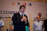 SÃO PAULO,SP, 13.11.2015 - HADDAD-SP - O prefeito Fernando Haddad durante comemoração do 20º aniversário da rede de Mercocidades, na Biblioteca Mário de Andrade, no centro da cidade, nesta sexta-feira 13. (Foto: Gabriel Soares/Brazil Photo Press)