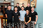Bernard Casey Live Comedy Show at the KTown Bar, Killarney last Saturday night. Pictured Bernard Casey with staff at K-Town front l-r Sean O'Leary, Tom Templeman, Rachel O'Dea and Kieran O'Leary, back l-r Gavin O'Leary, John Higgins and Denis McCarthy.