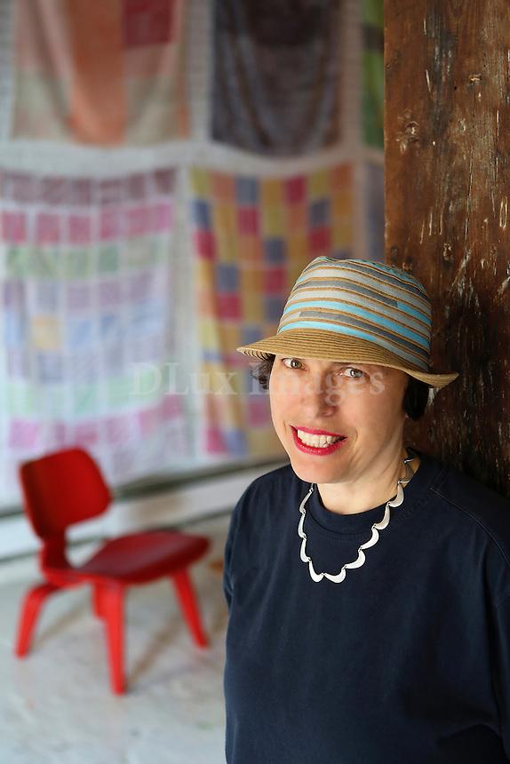 Polly Apfelbaum portrait Artist