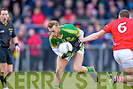 Barry John Keane  Kerry in action against Tomas Clancy Cork in the McGrath cup final at Mallow on Sunday.