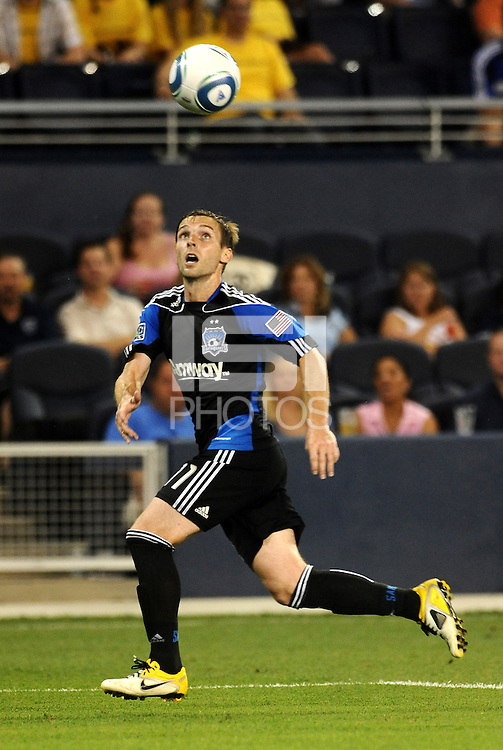 Bobby Convey San Jose defender in action... Sporting KC defeated San Jose Earthquakes 1-0 at LIVESTRONG Sporting Park, Kansas City, Kansas.