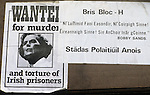 The Troubles. Margaret Thatcher wanted for murder and torture of Irish prisoners poster  1981