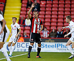 James Hanson of Sheffield Utd during the Carabao Cup First Round match at Bramall Lane Stadium, Sheffield. Picture date: August 9th 2017. Pic credit should read: Simon Bellis/Sportimage