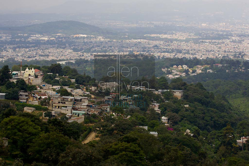 A view of Guatemala City, Guatemala.