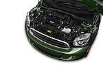 Car Stock 2015 MINI Countryman Base 4 Door Hatchback Engine high angle detail view