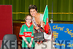 Keelin O'Shea the only student in Presentation Primary school from Mayo welcomed the Rose Of Tralee Maria Walsh on Thursday when she came to Launch the school's new Web site