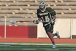Redondo Beach, CA 05/11/10 - Cole Russert (MC # 15) in action during the 2010 Los Angeles Boys Lacrosse championship game, Mira Costa defeated Palos Verdes 12-10 at Redondo Union High School.