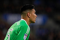 Neil Etheridge of Cardiff City during the Sky Bet Championship match between Cardiff City and Wolverhampton Wanderers at the Cardiff City Stadium, Cardiff, Wales on 6 April 2018. Photo by Mark  Hawkins / PRiME Media Images.