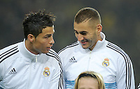 FUSSBALL   CHAMPIONS LEAGUE   SAISON 2012/2013   GRUPPENPHASE   Borussia Dortmund - Real Madrid                                 24.10.2012 Cristiano Ronaldo (li) und Karim Benzema (re, beide Real Madrid)