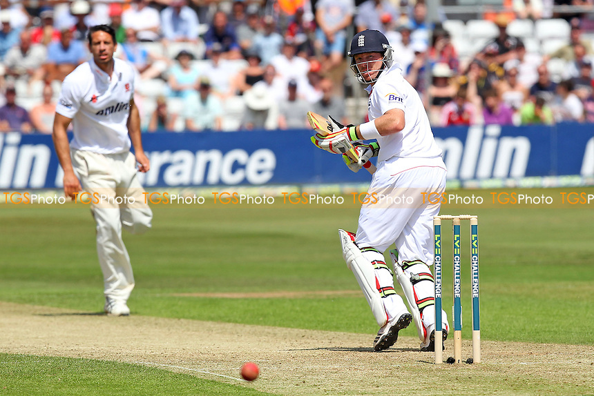 Ian Bell of England sends a Saj Mahmood delivery to the boundary - Essex CCC vs England - LV Challenge Match at the Essex County Ground, Chelmsford - 30/06/13 - MANDATORY CREDIT: Gavin Ellis/TGSPHOTO - Self billing applies where appropriate - 0845 094 6026 - contact@tgsphoto.co.uk - NO UNPAID USE