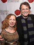"""Eve Wolf and John Noble attend the Opening Night Celebration for Ensemble for the Romantic Century Off-Broadway Premiere of<br />""""Maestro"""" at the West Bank Cafe on January 15, 2019 in New York City."""