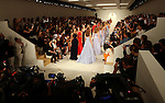 Models walk the runway during the Ralph Lauren presentation at New York Fashion Week in New York, Thursday, September 17, 2015. AFP PHOTO/TREVOR COLLENS