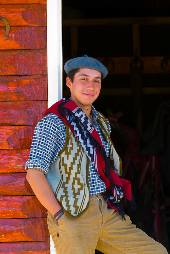 Gaucho (Chilean cowboy), Torres del Paine National Park, Patagonia, Chile