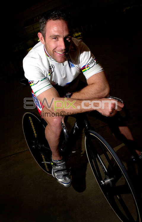 Pix:BEN DUFFY/SWpix.com. British Cycling - Great Britain Track Cyclist, Jamie Staff ......02/05/2003...COPYRIGHT PICTURE>>SIMONWILKINSON>>01943 436649>>.. Great Britain Track Cyclist, Jamie Staff pictured at the national Cycling centre in Manchester