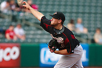June 4, 2009:  Sean Gallagher of the Sacramento River Cats, Pacific Cost League Triple A affiliate of the Oakland Athletics, during a game at the Spring Mobile Ballpark in Salt Lake City, UT.  Photo by:  Matthew Sauk/Four Seam Images