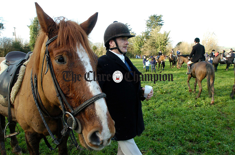 Liam Quinn  took part in the Esat Clare Harriers Hunt at Clonlara. Photograph by John Kelly.