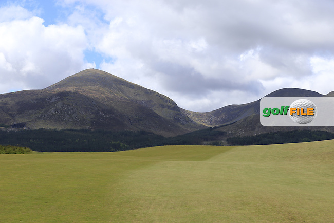 The Mourne Mountains from the course during Friday's Round 2 of the 2015 Dubai Duty Free Irish Open, Royal County Down Golf Club, Newcastle Co Down, Northern Ireland 5/29/2015<br />  Picture Eoin Clarke, www.golffile.ie