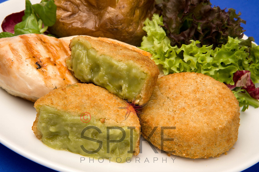 New invention Mushy Pea fritters from Lockwoods in Derbyshire