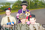 6394-6398.---------.Dad's army: Taking aim on winning a prize at the Feile Lughnasa festival parade last Sunday in Cloghane village were Ni?amh, Fiachra, Seamus and Jimmy O? Grai?nne.