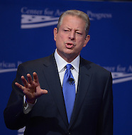 October 24, 2013  (Washington, DC)  Former U.S. Vice President Al Gore speaks during the 10th anniversary policy conference of the Center for American Progress held at the St. Regis hotel in Washington, D.C.  (Photo by Don Baxter/Media Images International)