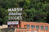 """Marsh Wheeling Stogies"" sign."