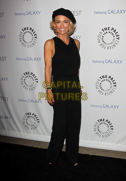 Kelly Carlson.PaleyFest Icon Award 2013 Held At The Paley Center for Media, Beverly Hills, California, USA..February 27th, 2013.full length black sleeveless jumpsuit beret hat .CAP/ADM/KB.©Kevan Brooks/AdMedia/Capital Pictures.