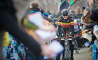 Ronde van Vlaanderen 2013..Tom Boonen (BEL) cheered to the start