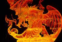 Dragon Shield, Ice sculpture, World Ice Sculpting Competition, Fairbanks, Alaska