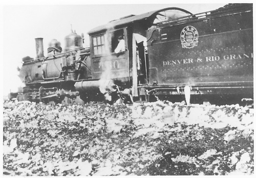 3/4 rear fireman's-side view of D&amp;RGW #460 in Crested Butte.<br /> D&amp;RGW  Crested Butte, CO  Taken by Vernon, Fred - 1926