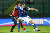 "Luca Caldirola e Isco.Siena 13/11/2012 Stadio ""Franchi"".Football Calcio Nazionale U21.Italia v Spagna.Foto Insidefoto Paolo Nucci."