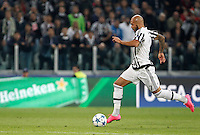 Calcio, Champions League: Gruppo D - Juventus vs Siviglia. Torino, Juventus Stadium, 30 settembre 2015.  <br /> Juventus&rsquo;s Simone Zaza prepares to kick to score during the Group D Champions League football match between Juventus and Sevilla at Turin's Juventus Stadium, 30 September 2015.<br /> UPDATE IMAGES PRESS/Isabella Bonotto