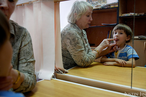 Children receive treatment, care and education at Russia's only kindergarten for HIV-infected children.