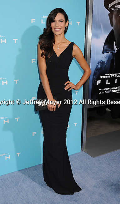 HOLLYWOOD, CA - OCTOBER 23: Nadine Velazquez arrives at the 'Flight' - Los Angeles Premiere at ArcLight Cinemas on October 23, 2012 in Hollywood, California.