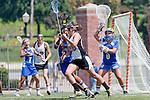 Los Angeles, CA 04/18/10 - Jeni Centner (UCSB # 0), Jenna Choquette (SCU #26) and Monora Seth (UCSB # 22)