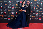 Juana Acosta and Ernesto Alterio attends red carpet of Goya Cinema Awards 2018 at Madrid Marriott Auditorium in Madrid , Spain. February 03, 2018. (ALTERPHOTOS/Borja B.Hojas)