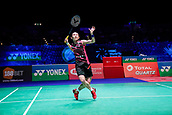18th March 2018, Arena Birmingham, Birmingham, England; Yonex All England Open Badminton Championships; Tai Tzu Ying (TPE)  in the womens singles the final against Akane Yamaguchi (JPN)