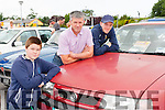 Joseph, John and James Courtney Faha with their Vauxhall Caviler at the Killarney Valley Classic and Vintage show on Sunday