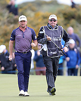 Saturday 30th May 2015; Graeme McDowell, Northern Ireland, and caddie Ken Conboy walk off the11th green<br /> <br /> Dubai Duty Free Irish Open Golf Championship 2015, Round 3 County Down Golf Club, Co. Down. Picture credit: John Dickson / SPORTSFILE