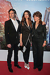 Colombian Juana Acosta (C), her mother and her husband Ernesto Alterio pose during Juana Acosta tribute event in Madrid, Spain. January 27, 2015. (ALTERPHOTOS/Victor Blanco)
