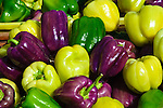 Colorful Bell Peppers, Farmers Market in San Luis Obispo, California