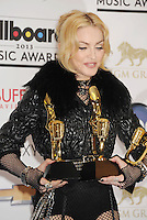 LAS VEGAS, CA- MAY 19: Singer Madonna poses in the press room at the 2013 Billboard Music Awards at MGM Grand Garden Arena on May 19, 2013 in Las Vegas, Nevada.PAP05135.PAP05135. ©NortePhoto