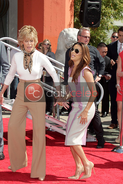 Jane Fonda, Eva Longoria<br /> at the Jane Fonda Hand And Foot Print Ceremony as part of the 2013 TCM Classic Film Festival, TCL Chinese Theater, Hollywood, CA 04-27-13<br /> David Edwards/DailyCeleb.Com 818-249-4998
