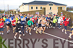 The runners at the start of the Puck Warriors Jingle run 10km in Killorglin on Saturday..