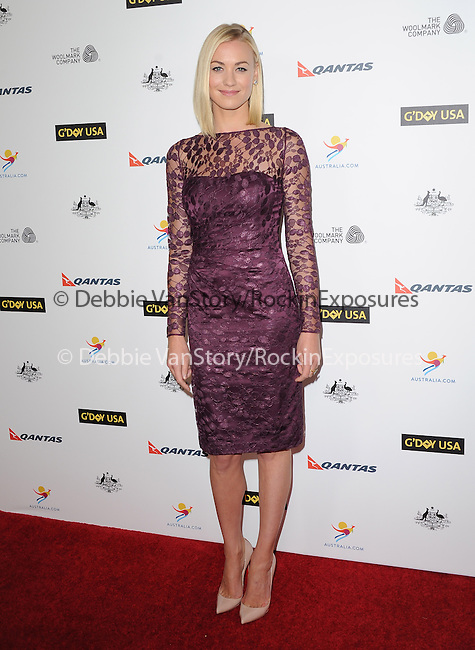 Yvonne Strahovski attends The G'Day USA Black Tie Gala held at  JW Marriot at LA Live in Los Angeles, California on January 11,2014                                                                               © 2014 Hollywood Press Agency
