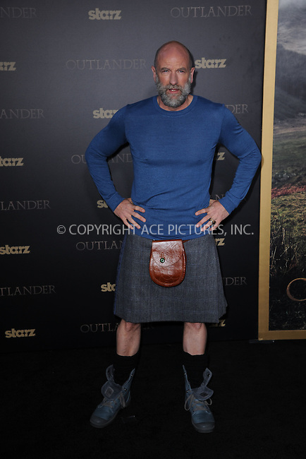 WWW.ACEPIXS.COM<br /> April 1, 2015 New York City<br /> <br /> Graham McTavish attending STARZ Original series &ldquo;Outlander&rdquo; celebration of &ldquo;Droughtlander&rdquo; at a special premiere screening of &ldquo;The Reckoning&rdquo; at The Ziegfeld Theater on  April 1, 2015 in New York City.<br /> <br /> Please byline: Kristin Callahan/AcePictures<br /> <br /> ACEPIXS.COM<br /> <br /> Tel: (646) 769 0430<br /> e-mail: info@acepixs.com<br /> web: http://www.acepixs.com