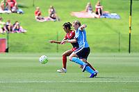 Boyds, MD - Sunday July 31, 2016: Caprice Dydasco, Leah Galton during a regular season National Women's Soccer League (NWSL) match between the Washington Spirit and Sky Blue FC at Maureen Hendricks Field, Maryland SoccerPlex.