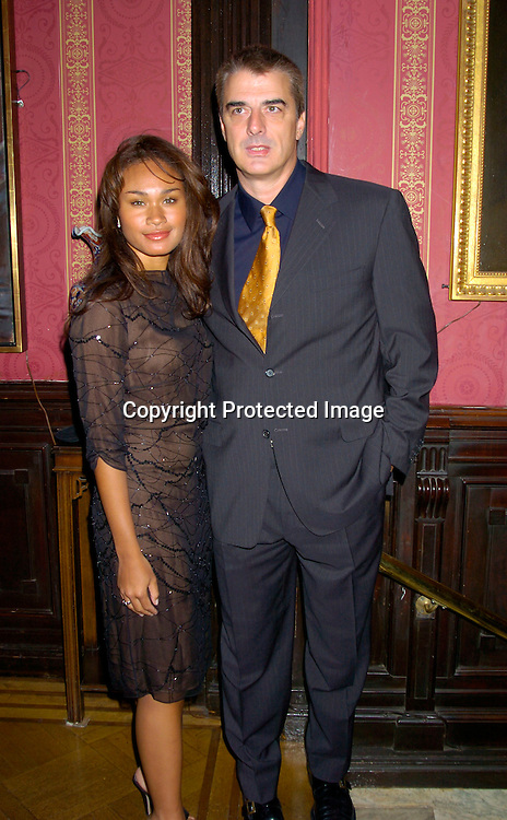 Chris Noth and Tara Wilson..at the National Arts Club which honored Paul Sorvino ..with their Medal of Honor on April 21, 2004 in New York City. Photo by Robin Platzer, Twin Images